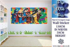 Lego Marvel Los Vengadores Dormitorio de Niños Pared Adhesivo Niños extra grande de la etiqueta de la pared.