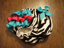 Boutique Mudpie Zebra Ruffled Diaper Cover Bloomers 0-6