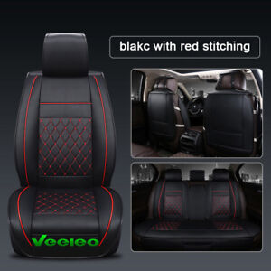 Car Seat Cover for Jeep 5 Seats Front Rear Full Set Auto Cushions Universal