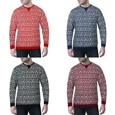 Mens Womens Fairisle Nordic Christmas Xmas Festive Jumper Sweater Sweatshirt Top