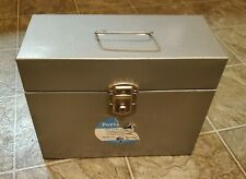 Vintage Hamilton Metal Products Filing Storage Box With Lock And Key