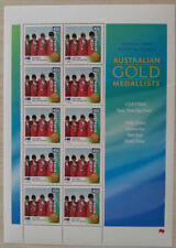 OLYMPIC 2000 GOLD MEDAL EQUESTRIAN 10 STAMP SHEET  NEW.