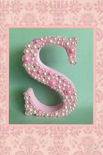 DECORATED FREESTANDING WOODEN LETTER Christening Baby Shower Baby Girl