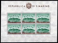 San Marino - Foglietto Europa unita, 1961 - Nuovo (** MNH)