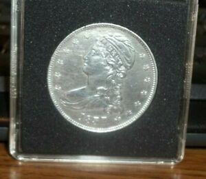 1837 Capped Bust Half Dollar US Silver AU+ #CW37