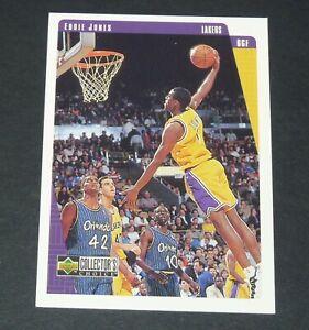 EDDIE JONES LAKERS LOS ANGELES 1997-1998 NBA BASKETBALL UPPER DECK CARD