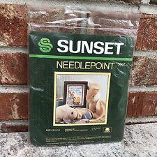Sunset Baby Bunny Needlepoint 5607 Sealed Kit Complete