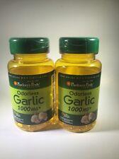 Puritan's Pride Odorless Garlic 1000mg Allicin Cholesterol Heart 200 Softgel