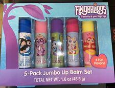 Fingerlings 5 Pack Jumbo Lip Balm Set, multi-flavored!