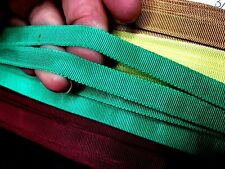 """Vintage Woven Edge Petersham 1940s Cotton 3/8"""" Rayon Ribbon1yd Made in France"""