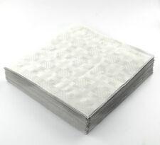 25 x BIANCO USA E GETTA foldedtable copre tabella Cloths QUADRATO PARTY MATRIMONI