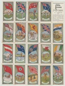 trade+cigarette cards allens sports+flags 36/36