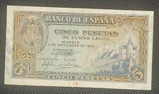 Billete 5 Pesetas 1940  Burgos EBC+