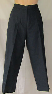 Walking Golf Hiking Trousers Navy Sizes 10 - 18 Zips At Ankles And Pockets