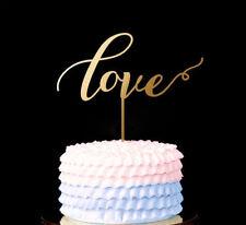 amour figurien pour gâteau décoration doré Marriage Fiançailles Anniversaire