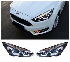 HID Headlights For Ford Focus 2015 2016 Front Bumper LED Bi-xenon Head Lamps