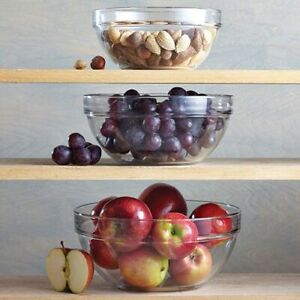 Pampered Chef Glass Mixing Bowl Set #1752 - Free Shipping