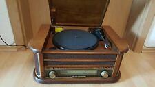 Nostalgie Holz Musikanlage   Kompaktanlage   Retro Stereoanlage   Plattenspieler