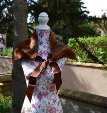 Etole Femme Boléro chauffe épaule Boa  marron fourrure Vintage
