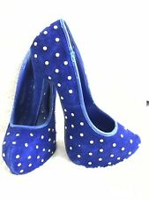 Topshop High Heels, Platform Stiletto, Pointed Shoes Size 5 Blue Studded Sexy