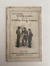 1920's Successful Picture Making  Seneca Folding Scout Camera Guide 28pg (1N)