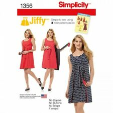 Simplicity Sewing Pattern 1356 Vintage 1970s Jiffy Reversible Wrap Dress H5