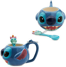 NEW Lilo & Stitch Coffee Mug & Scrump Spoon Set Ceramic 12 OUNCES Disney Store