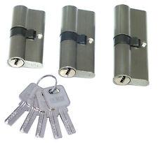 Profilzylinder 60 70 80 mm Sicherheitsschloss 5-30 Schlüssel gleichschließend