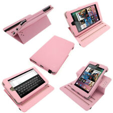 Pink PU 360° Leather Case for Google Nexus 7 Android 4.1 Tablet 8GB 16GB Cover