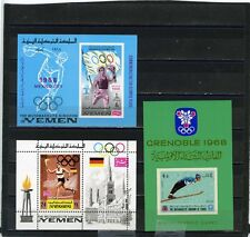 YEMEN KINGDOM OLYMPIC GAMES SET OF 3 S/S MNH