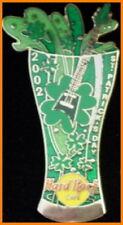 Hard Rock Cafe ONLINE 2002 St. Patrick's Day PIN Pilsner Beer Mug w/Guitar 11550