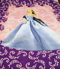 Vintage Barbie Single Bed Quilted Quilt Cotton Bed Cover Blanket Bedspread Throw