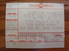 Authentic Rare Vintage Public Enemy Ice T Eazy E Nwa Epmd Concert Ticket Stub