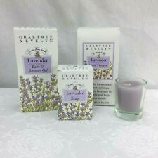 Crabtree & Evelyn Lavender Soap Bath & Shower Gel Hand Therapy Candle Lot