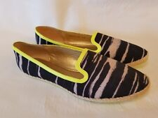 Dolce Vita New Womens Razia Black White Fabric Slip On Shoes 9 1/2 M