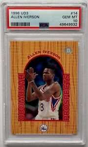 1996 UD3 Basketball Allen Iverson ROOKIE RC #14 PSA 10 GEM MINT