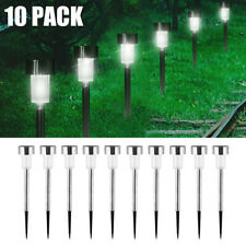 10Pcs Solar Garden LED Lights Outdoor Waterproof Landscape Lawn Pathway LED Lamp