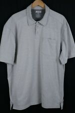 Duluth Trading Co. Mens Sz XL Gray Short Sleeve Polo Longtail T Shirt