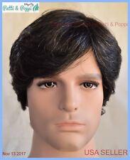 Men's Wig  Color 280 Off Black with 15% Grey New Man Wig Men 1260