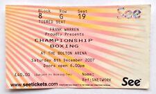 Amir Khan v Graham Earl 2007 Boxing Ticket Bolton Arena