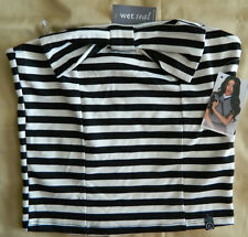 Wet Seal Medium Camila Bow Front Striped Tube Crop Brand New Ships Free in US