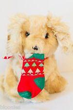 Heartline RUFF Puppy dog w/ Christmas Stocking 1985 NEW NWT