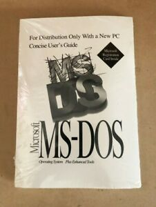 """NEW, UNOPENED, SEALED Microsoft MS DOS 6.2 w/COA and 3 1/2"""" Diskettes"""