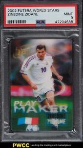 2002 Futera World Stars Soccer Zinedine Zidane PSA 9 MINT