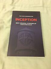 Inception Best Original Screenplay Oscar FYC Christopher Nolan Leonardo Dicapeio