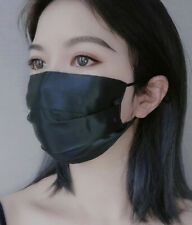 Black Washable Breathable Adjustable Double Layer Thin Facemask Summer