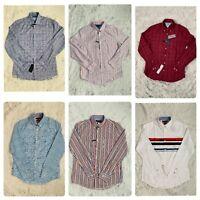 Tommy Hilfiger Long Sleeve Shirt For Men / Regular & Slim Fit Size S,M,L,XL