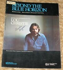 "VINTAGE ""BEYOND THE BLUE HORIZON"" SHEET MUSIC RARE LOU CHRISTIE COVER"