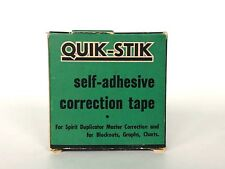 VINTAGE Office Supplies QUIK STIK Correction Tape for Spirit Duplicators