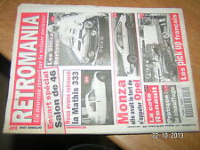 / Retromania n°30 Simca Bertone Mathis 333 Opel Monza Pick up français